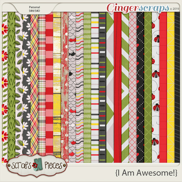 I Am Awesome Paper Pack by Scraps N Pieces
