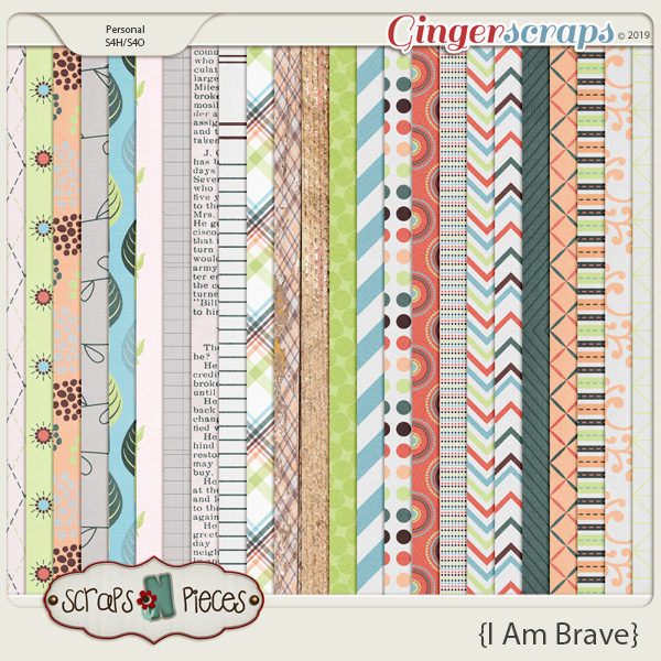 I am Brave papers by Scraps N Pieces