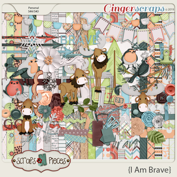 I am Brave kit by Scraps N Pieces