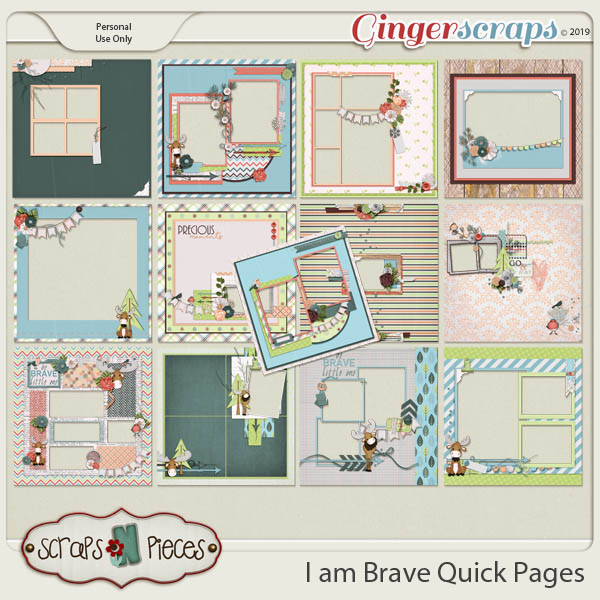 I am Brave Quick Pages by Scraps N Pieces