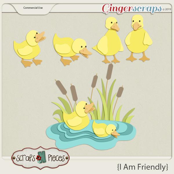 I am Friendly Ducks CU Layered Templates