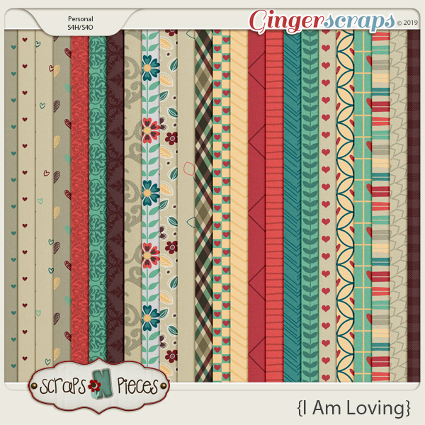 I am Loving papers by Scraps N Pieces