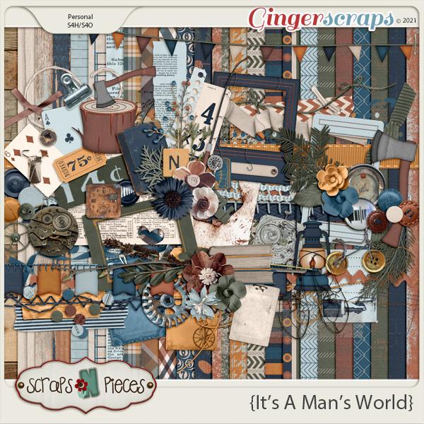 It's A Man's World kit by Scraps N Pieces