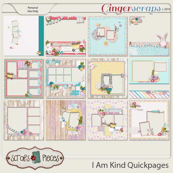 I Am Kind Quickpages by Scraps N Pieces