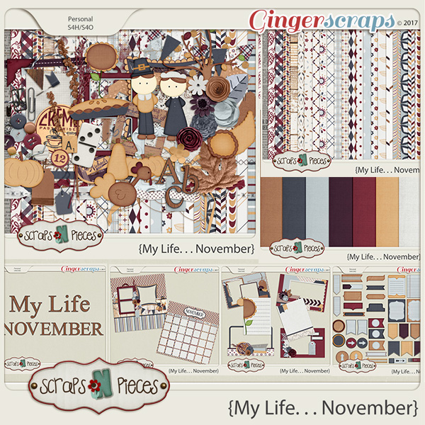 My Life - November Bundle by Scraps N Pieces