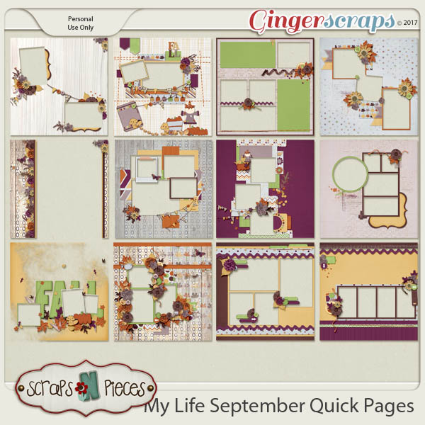 My Life - September Quick Pages by Scraps N Pieces
