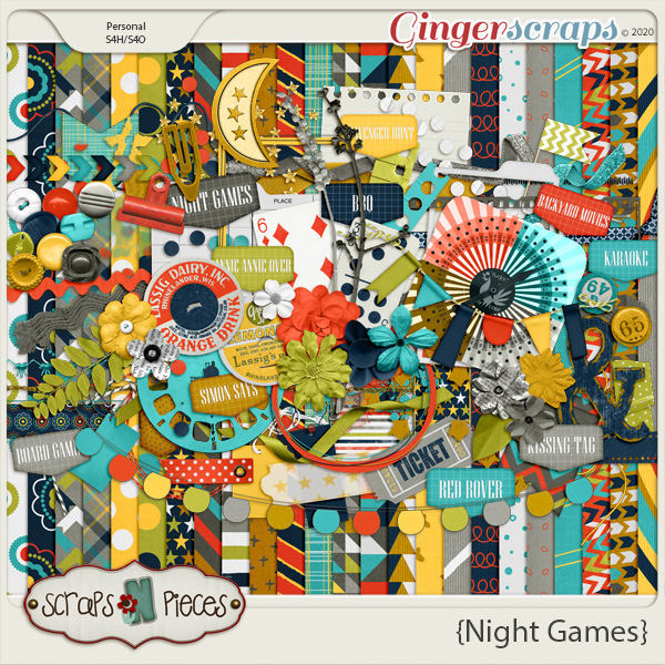 Night Games kit - Scraps N Pieces