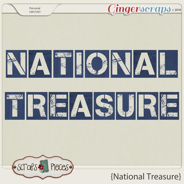 National Treasure Alpha by Scraps N Pieces