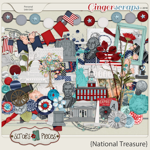 National Treasure Embellishments by Scraps N Pieces