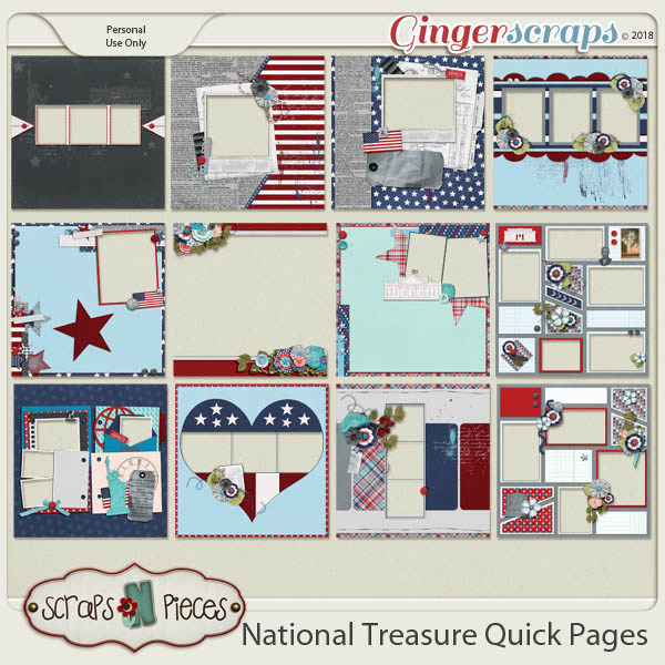 National Treasure Quick Pages by Scraps N Pieces
