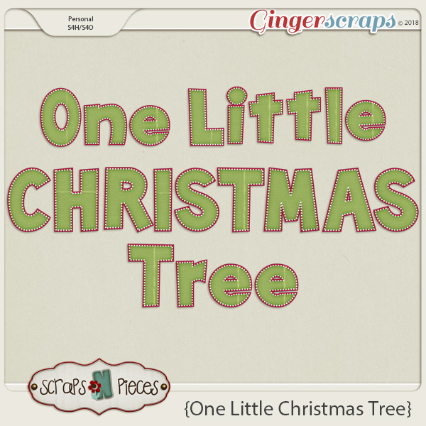 One Little Christmas Tree Alpha by Scraps N Pieces
