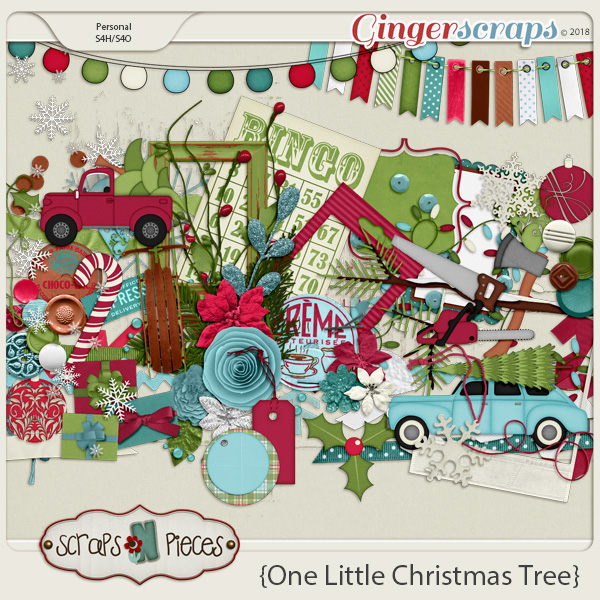 One Little Christmas Tree Embellishments by Scraps N Pieces
