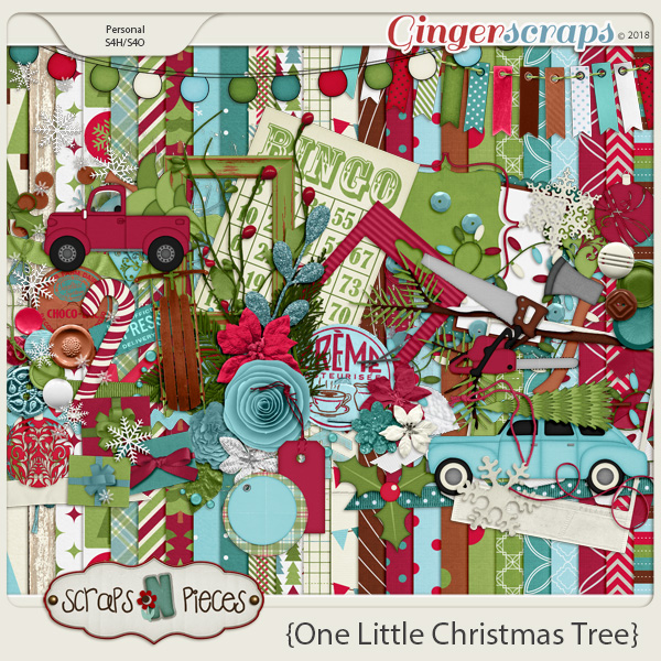 One Little Christmas Tree Bundle by Scraps N Pieces