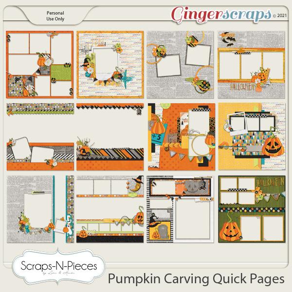 Pumpkin Carving Quick Pages - Scraps N Pieces