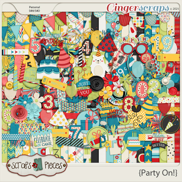 Party On Kit by Scraps N Pieces