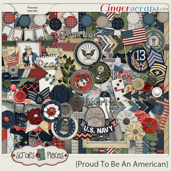Proud To Be An American kit by Scraps N Pieces