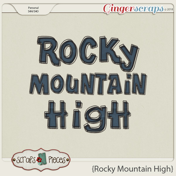 Rocky Mountain High Alpha by Scraps N Pieces