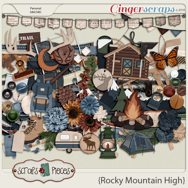 Rocky Mountain High Embellishments by Scraps N Pieces