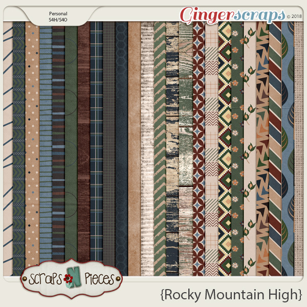 Rocky Mountain High Papers by Scraps N Pieces