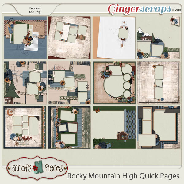 Rocky Mountain High Quick Pages by Scraps N Pieces