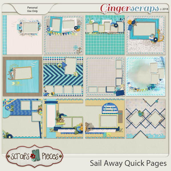Sail Away Quick Pages by Scraps N Pieces