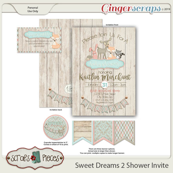 Sweet Dreams 2 Baby Shower Invitation by Scraps N Pieces