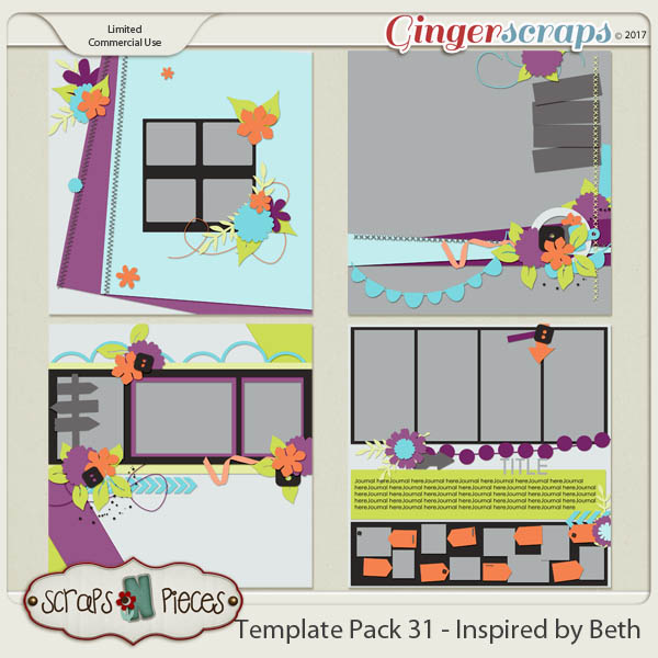 Template Pack 31 - Inspired by Beth - by Scraps N Pieces