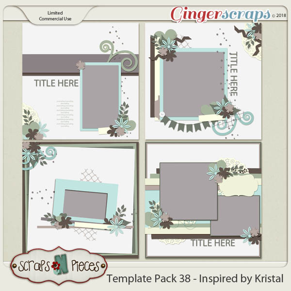 Template Pack 38 - Inspired by Kristal by Scraps N Pieces