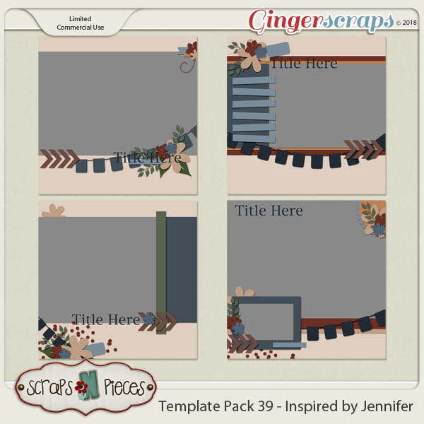 Template Pack 39 - Inspired by Jennifer by Scraps N Pieces