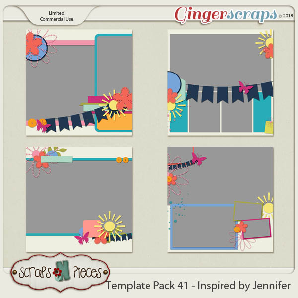 Template Pack 41 - Inspired by Jennifer by Scraps N Pieces
