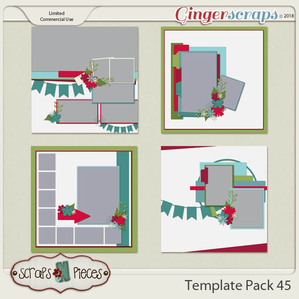 Template Pack 45  by Scraps N Pieces
