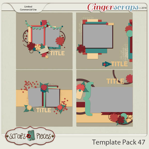Template Pack 47  by Scraps N Pieces