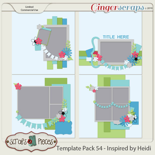 Template Pack 54 by Scraps N Pieces
