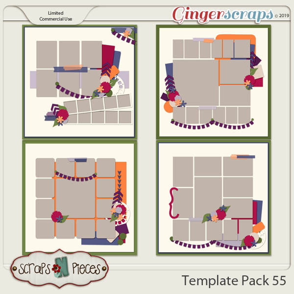 Template Pack 55 by Scraps N Pieces