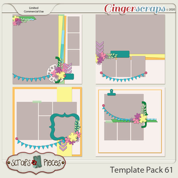 Template Pack 61 by Scraps N Pieces