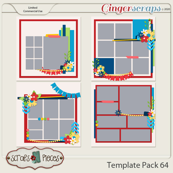 Template Pack 64 by Scraps N Pieces