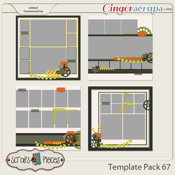 Template Pack 67 by Scraps N Pieces
