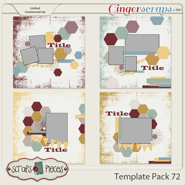 Template Pack 72 by Scraps N Pieces