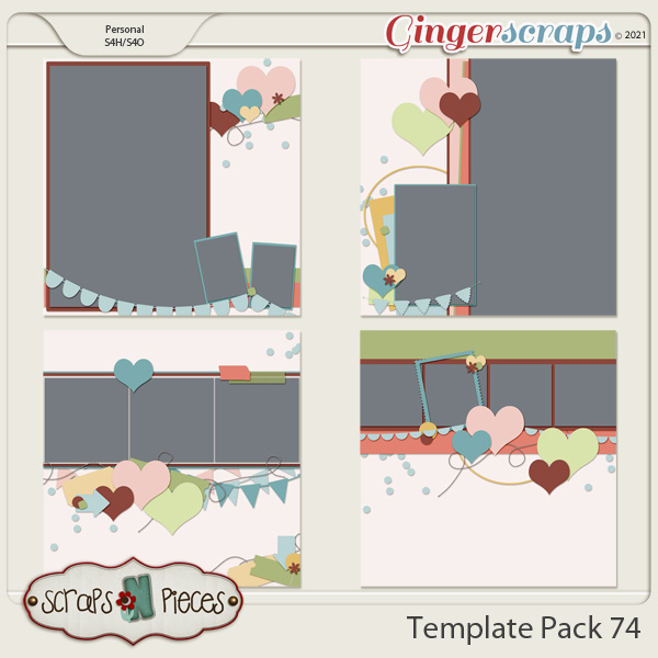 Template Pack 74 by Scraps N Pieces