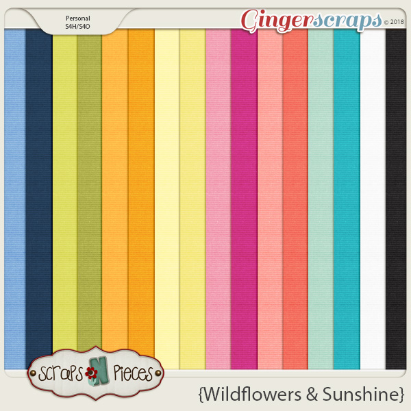 Wildflowers and Sunshine cardstocks by Scraps N Pieces
