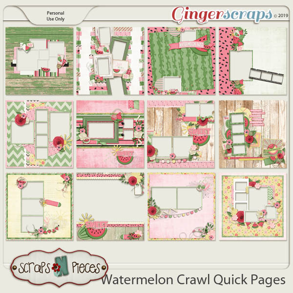 Watermelon Crawl  Quick Pages by Scraps N Pieces