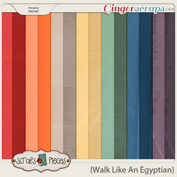 Walk Like An Egyptian Cardstocks by Scraps N Pieces