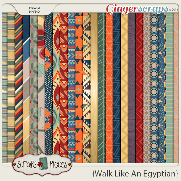 Walk Like An Egyptian Papers by Scraps N Pieces