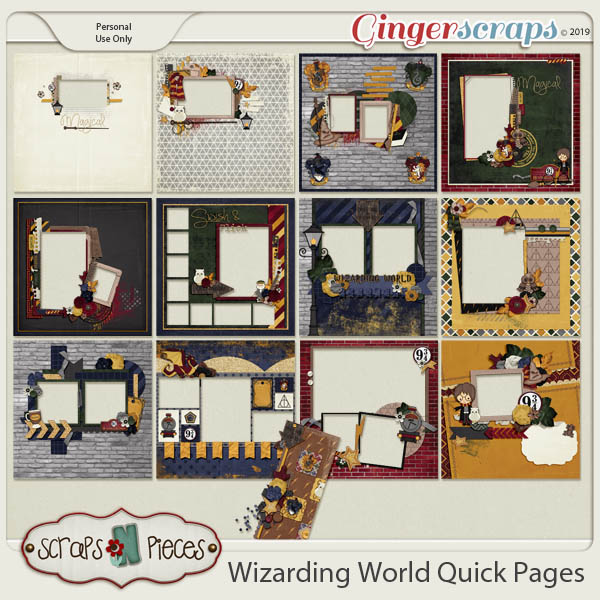 Wizarding World Quick Pages by Scraps N Pieces