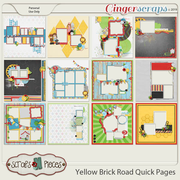 Yellow Brick Road Quick Pages by Scraps N Pieces