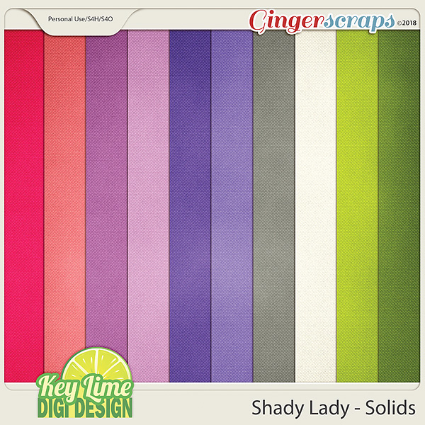 Shady Lady Solid Papers by Key Lime Digi Design
