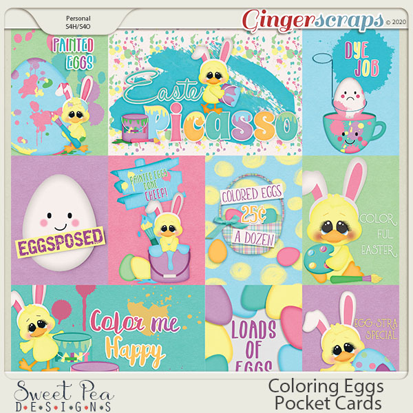 Coloring Eggs Pocket Cards