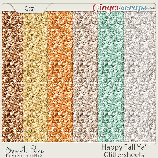 Happy Fall Ya'll Glittersheets