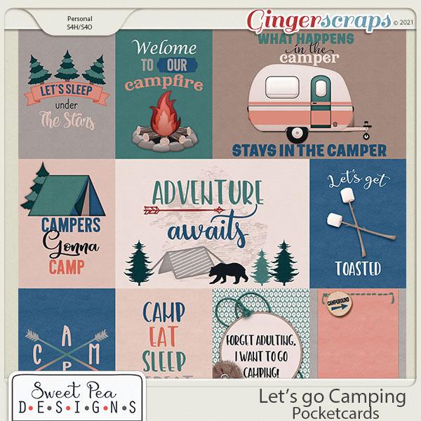 Lets go Camping Pocketcards