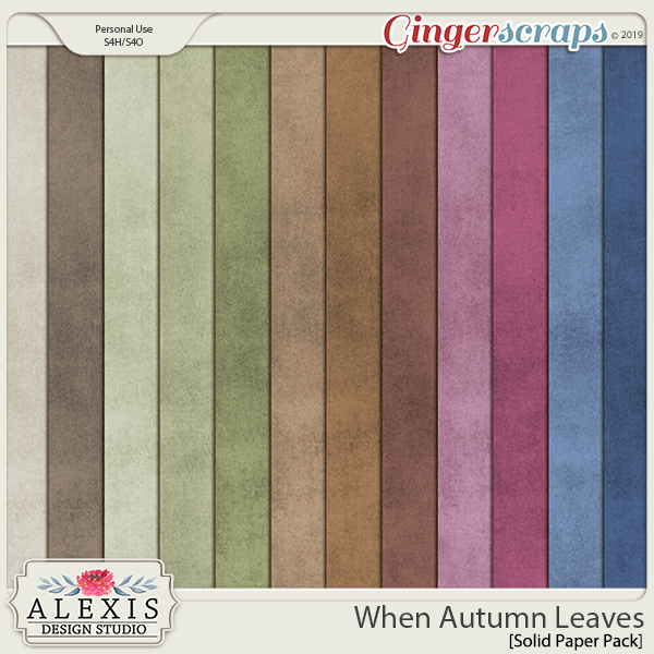 When Autumn Leaves - Solids